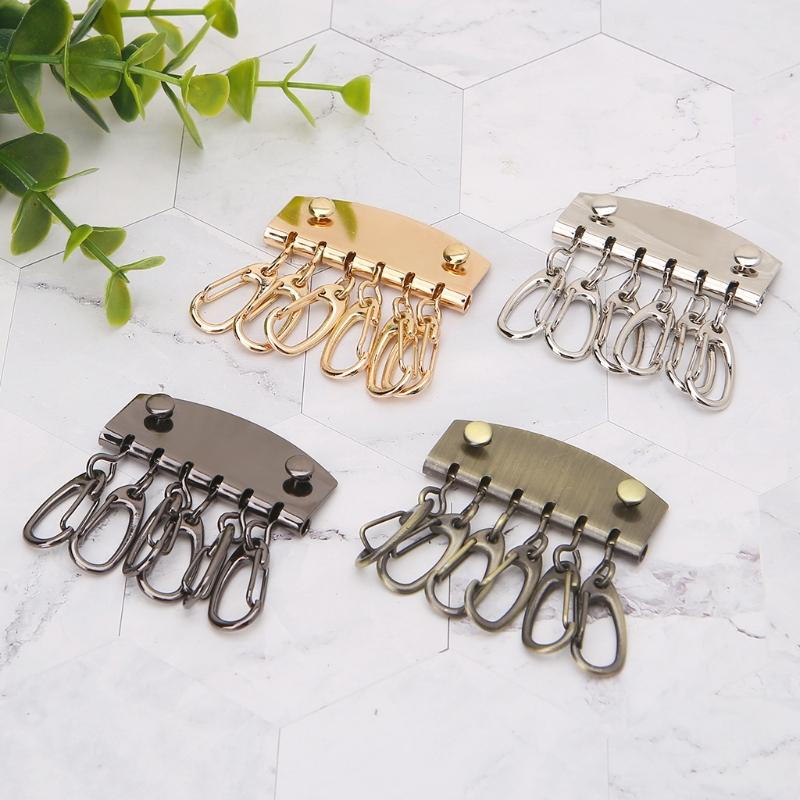 11eb8607b1ae 2019 THINKTHENDO DIY Lobster Clasps Clips Bag Key Ring 6 Hook Keychain Purse  Wallet Accessories From Xiamenshoes
