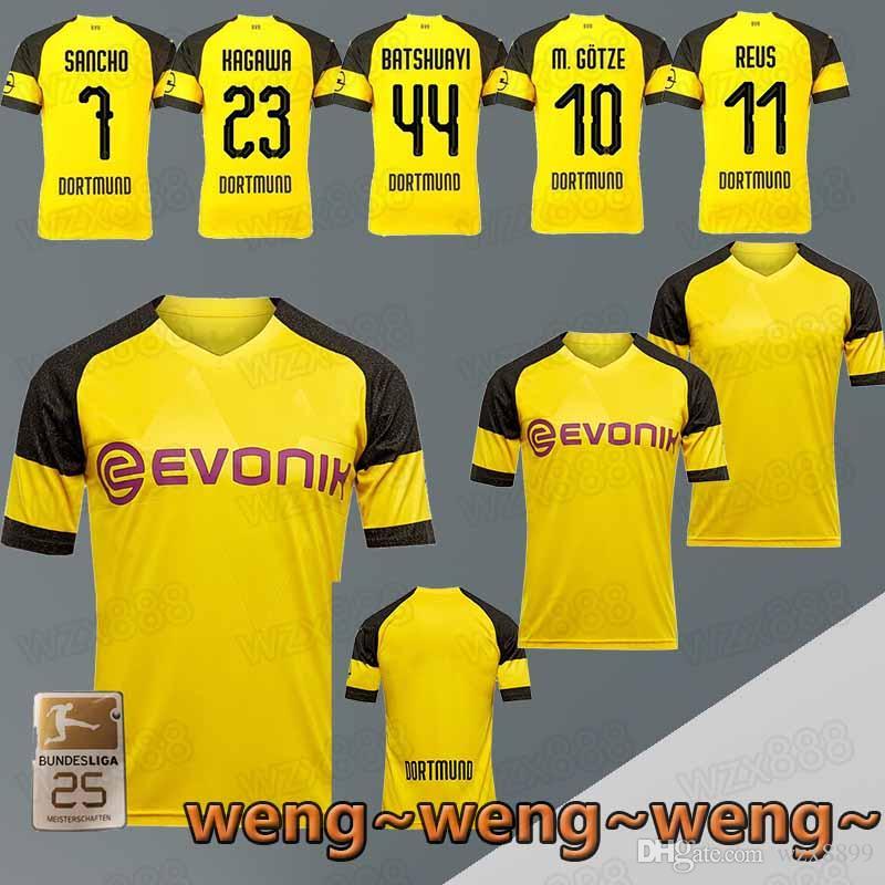Compre 2018 ~ 2019 NOVO Borussia Dortmund Futebol Jersey 10 11 7 23 44  Batshuayi MGOTZE Jersey Pode Ser Personalizado Jersey De Wzx8899 7d18ba2b7727a
