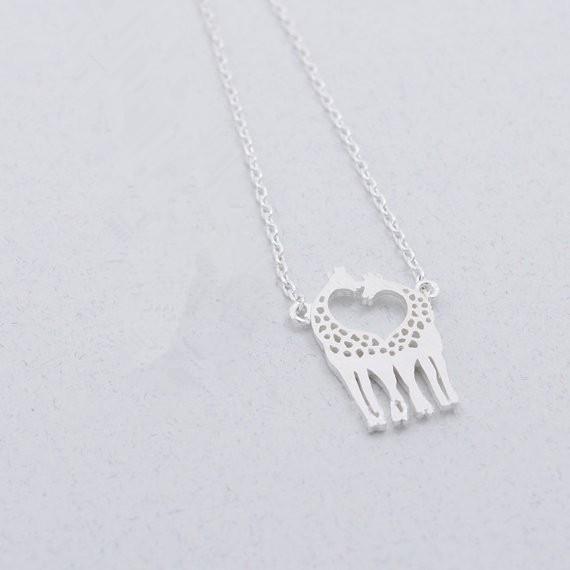 Moda Seven Zürafalar Kolye 18 K Altın Gümüş Kaplama Hayvan Kolye Kadınlar Için Hediye Toptan