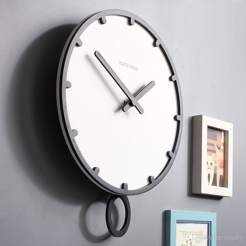 Acheter Swing Grande Horloge Murale Design Moderne 3d Vintage