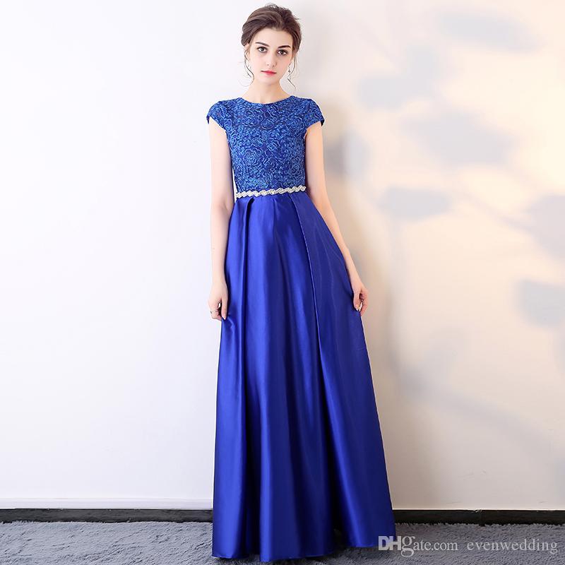 b36ec3f690 Cheap New Muslim Long Sleeves Evening Dress Discount Evening Dresses Flower  Embroidery