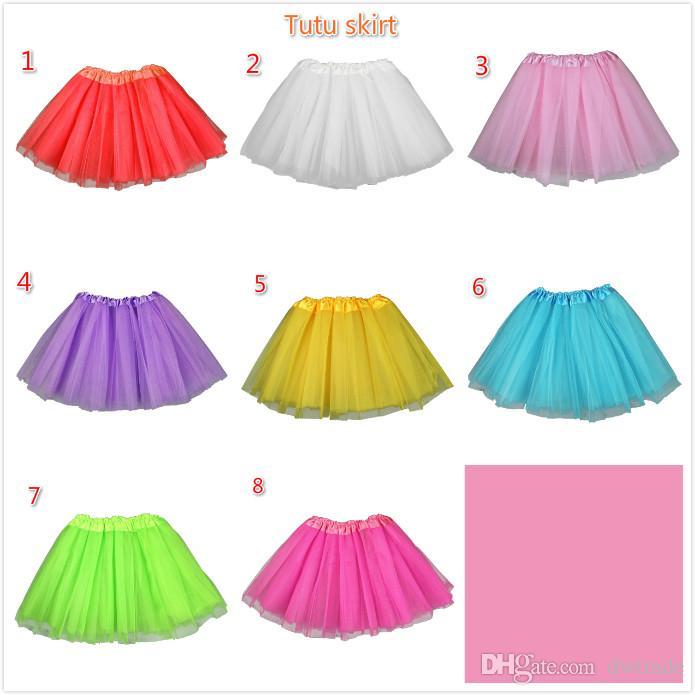 Summer Girls Tutu Dress Baby Girls Performance Gonna Star Lace Seven Color Dress Bambini Mezza gonna Princess Skirt Abiti Abbigliamento bambini