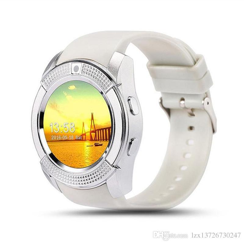 V8 Smart Watch Bluetooth SmartWatch с 0,3 м Camera Sim IPS HD Полный круг Дисплей Smart Watch для системы Android с коробкой