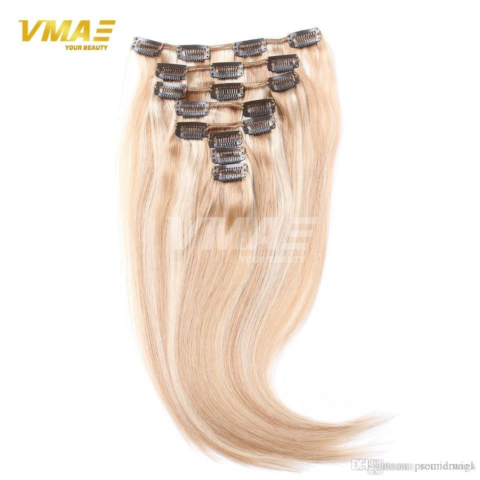 100 Remy Virgin Brazilian Hair Clip In Extensions With 17 Clips