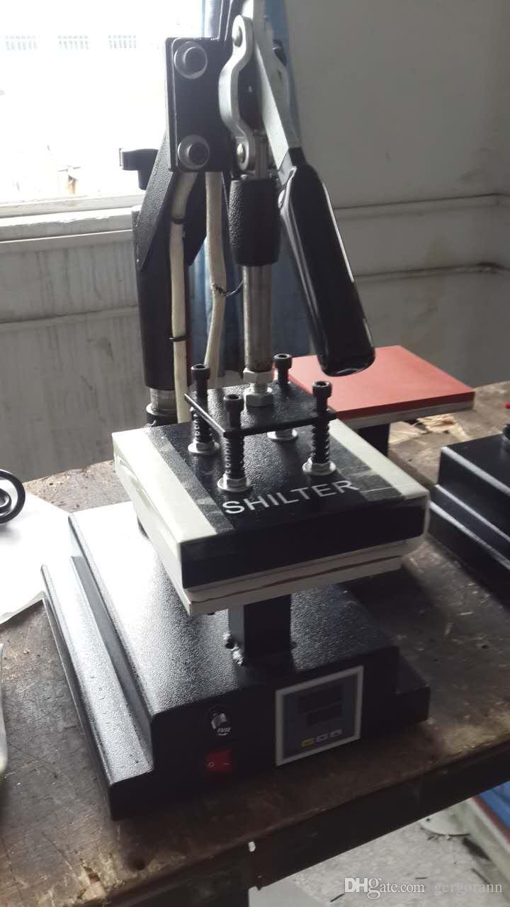 Hotter CE digital Heat Press Manual 15*15cm Double Working Table & Logo  Printed Swing Heat Transfer Machine