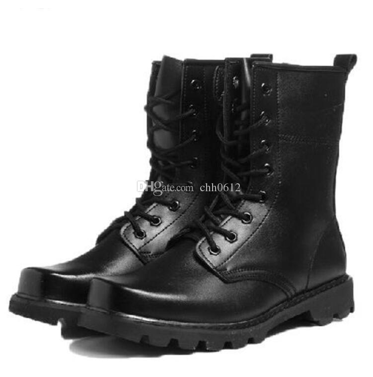 5a57c80874323 Classic Martin Boots Men Steel Toe Army Boots Genuine Leather Man Work  Shoes Policemen Combat Boots Tactical Military Shoes