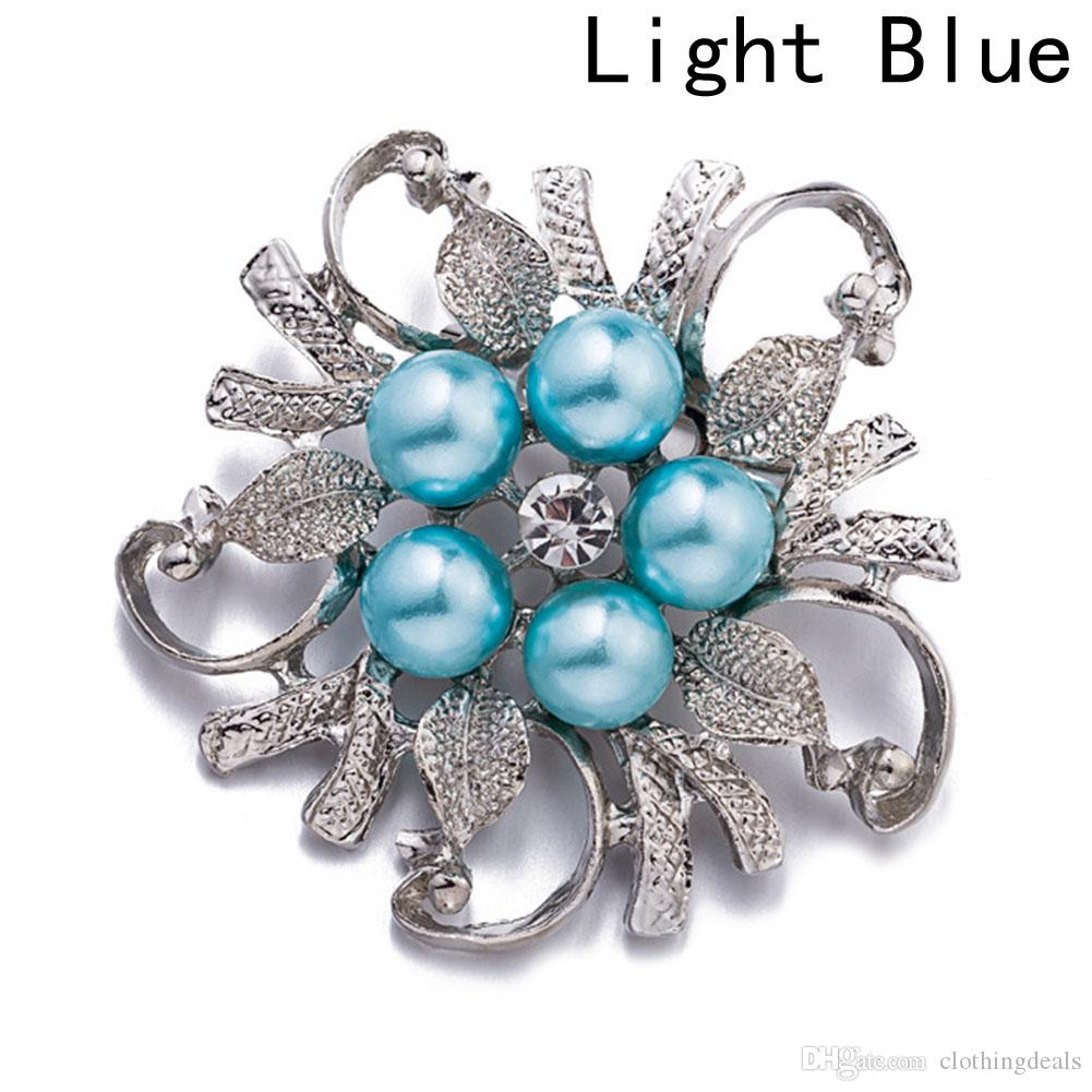 HOT Sale Brooches For Women Vintage Imitation Pearl Brooch Female Jewelry Collar Flower Leaf Brooches Pins