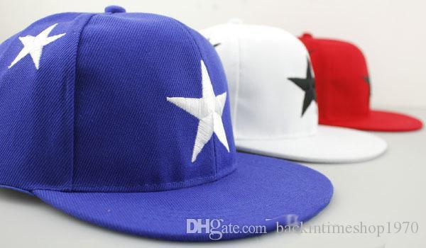 Fashion kids boy girls adjustable star pattern baseball caps toddlers kids summer snapback hip-hop peaked cap