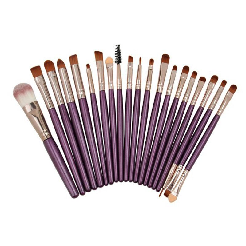19 Styles Wholesale Makeup Brush Professional Foundation Eye Shadow Eyeliner Lip Blending Cosmetics Make-up Tool