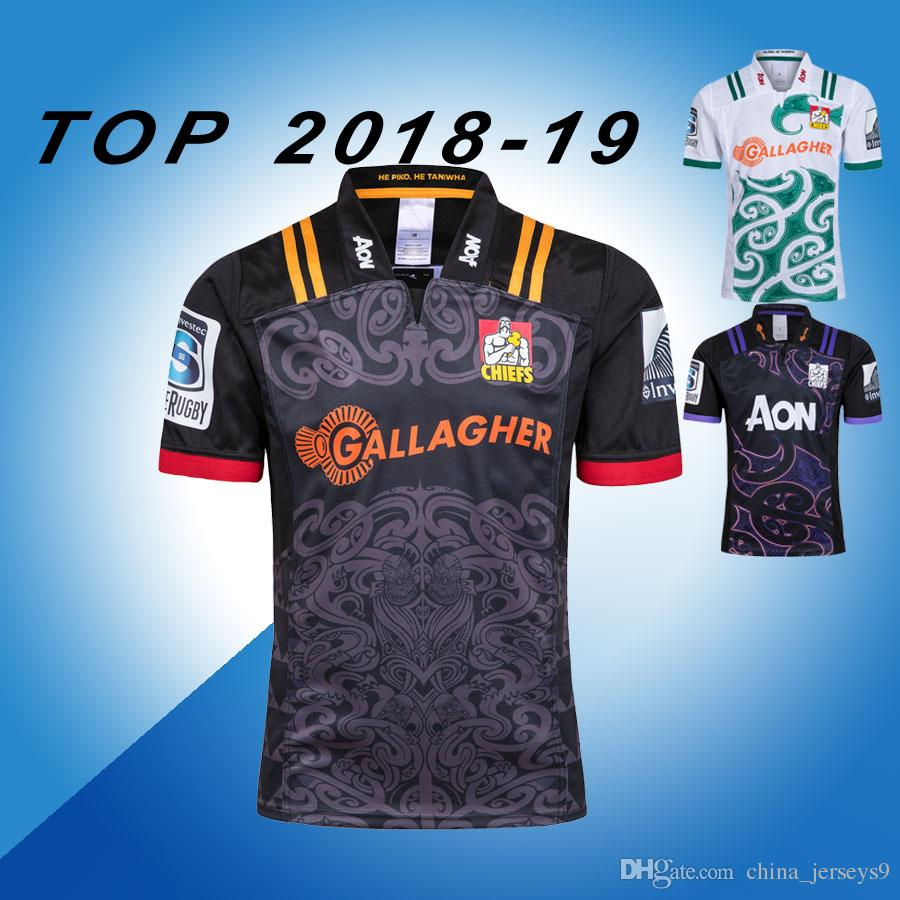 e05a1e54a86 Chiefs Super Rugby Jersey 2018 2019 Home Away Rugby Jerseys NRL National Rugby  League Shirt Chief Training Shirts S-3xl Chiefs Chiefs Jersey Chiefs Rugby .