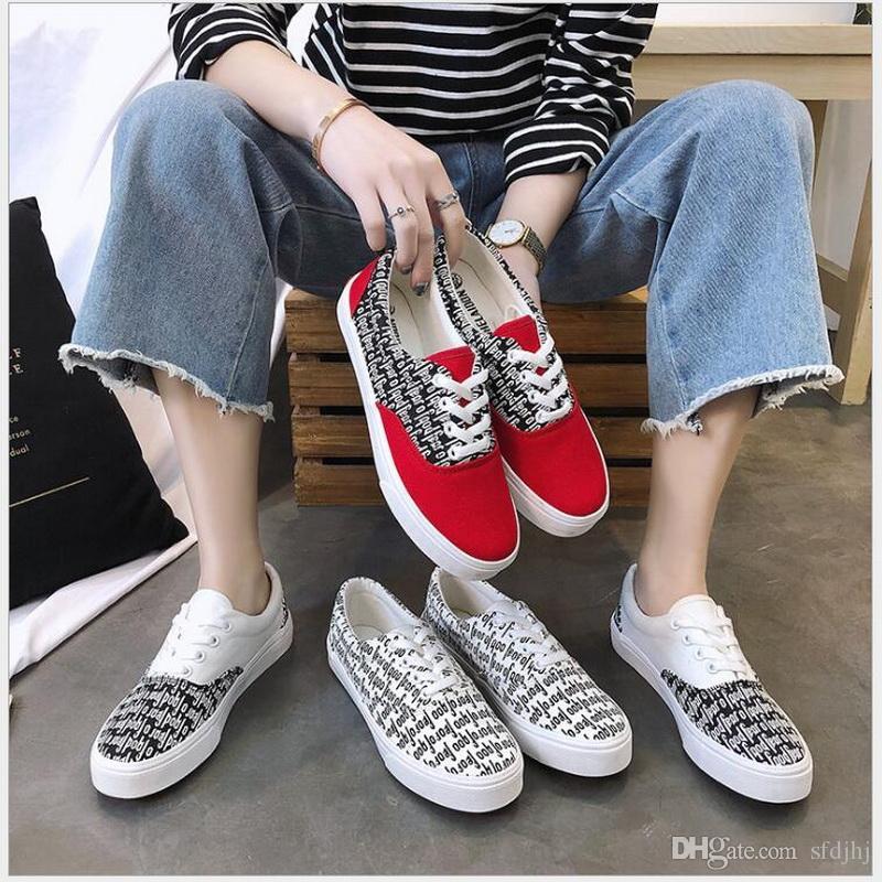 Großhandel 2018 Frühling Sommer Mode Frauen Vulkanisierte Schuhe Turnschuhe Damen  Flache Freizeitschuhe Atmungsaktive Wanderschuhe Leinwand Von Sfdjhj, ... b960e80762