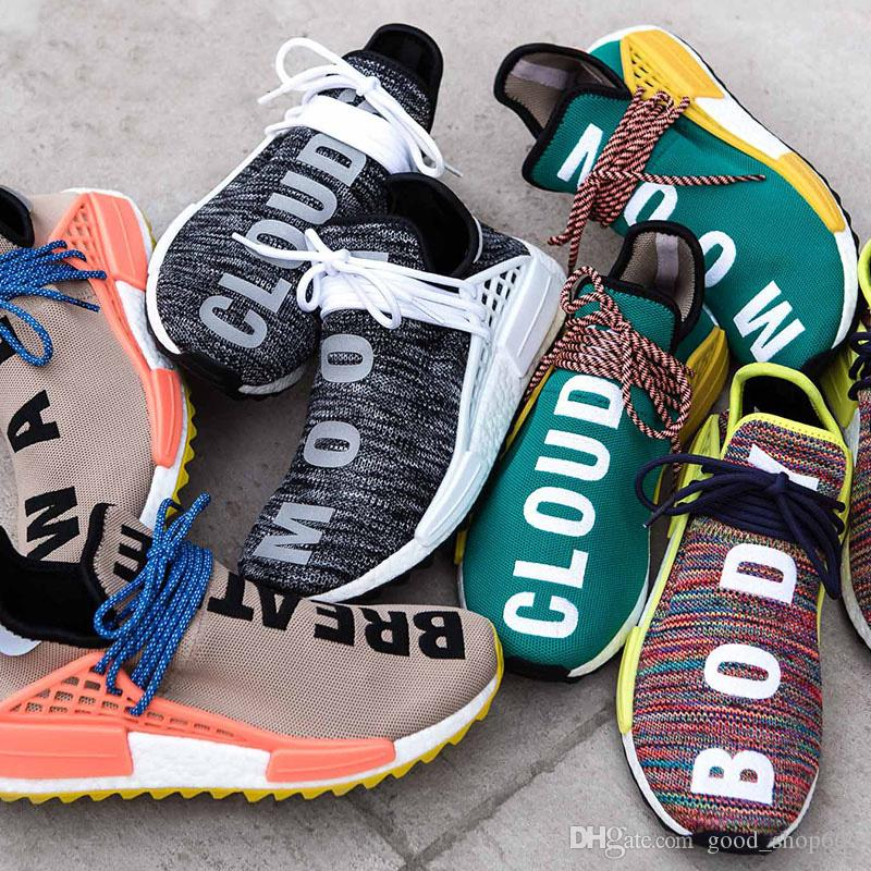 super popular bebaa 0980b Acquista Ultime Scarpe Da Corsa Da Trail Race Human 2 Uomo Donna Pharrell  Williams Hu Runner Giallo Nero Bianco Rosso Verde Scarpe Da Corsa Sportive  Blu ...