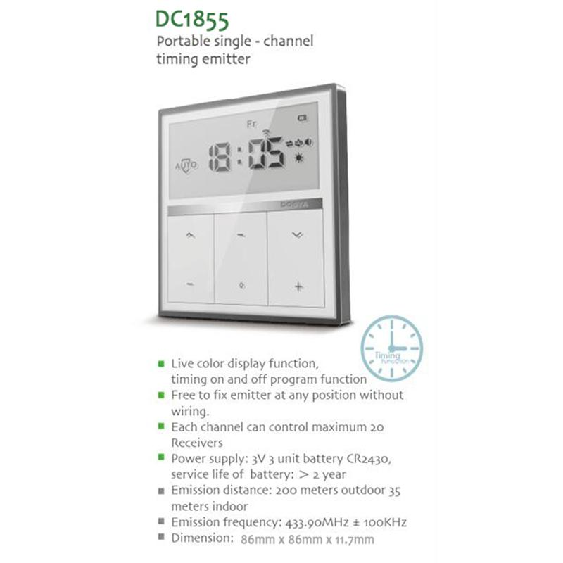 Dooya Wall Switch Dc1855 Single Channel Remote Control