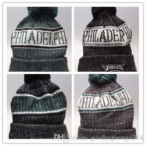 2018 Wholesale Winter Beanie Knitted Hats All 32 Teams PHILADELPHIA EAGLES  Football Beanies Sports Team Women Men Popular Fashion Winter Hat Sports  Beanies ... 9a935587b44