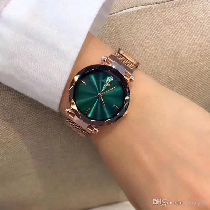 Fashion Luxury Watches Diamond Cut Gemstone Watches Case Wristwatch for Women Quartz Metal Watches
