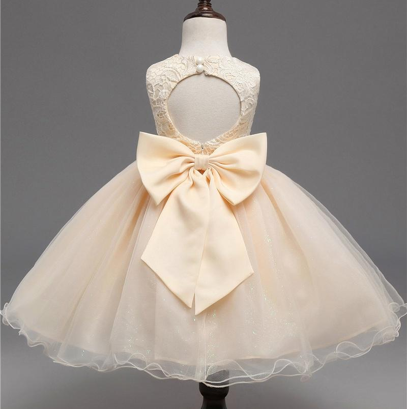 Ai Meng Baby Children Girl Dress 2017 Kids Ceremony Party Dresses Tulle Lace Flower Girl Wedding Gown Baby Girl Graduation Dress