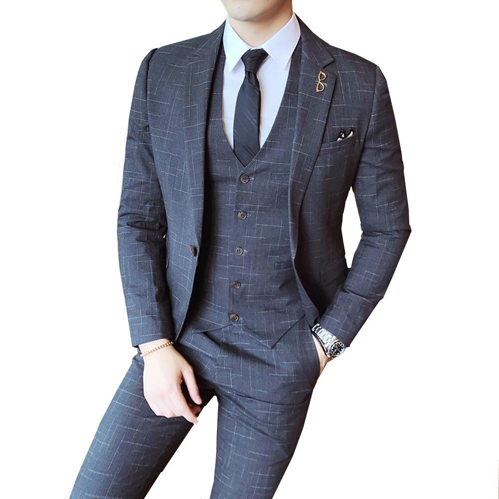 Outfit Uomo Matrimonio Casual : Acquista abito da uomo vintage gessato classico da uomo elegante