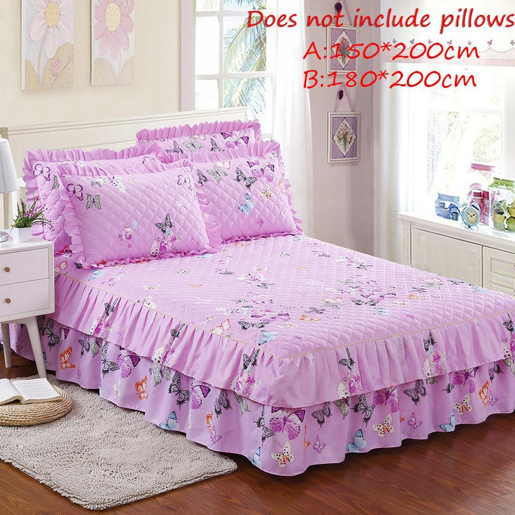 Queen Size Bed Skirt Quilted Thickened Bed Cover Chandler Skirt