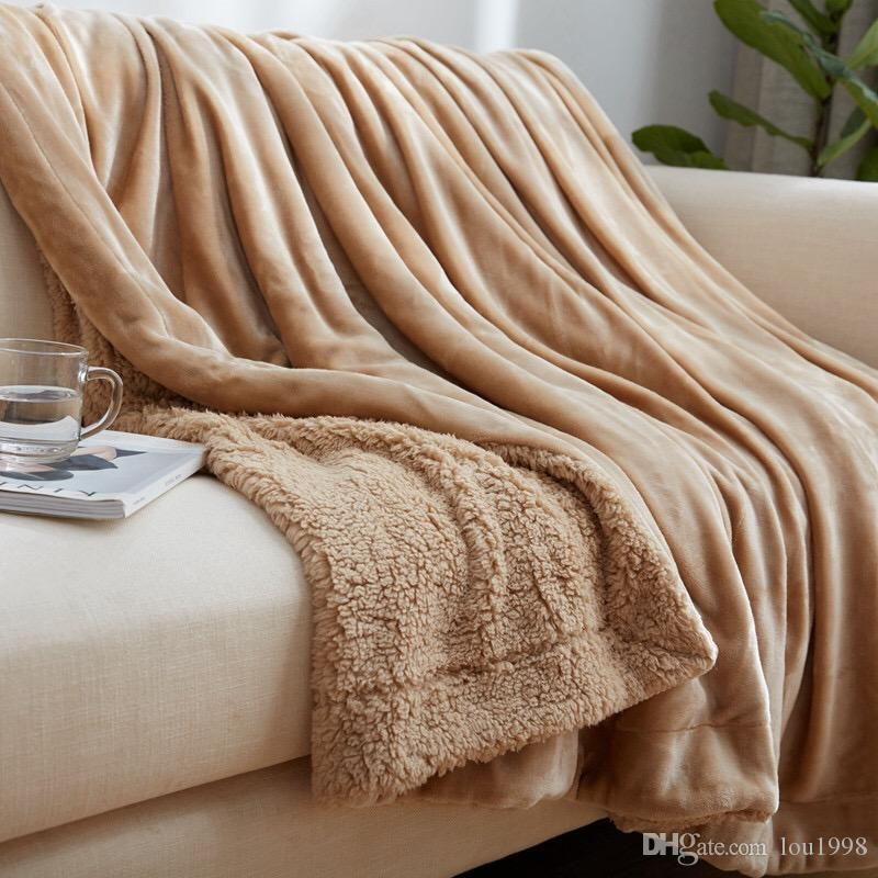 Freeshipping hot 100%High quality polyester fiber Blanket Super Soft Warm Fuzzy Lightweight Bed or Couch Blanket