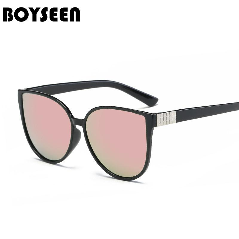7ce16c2c7491 BOYSEEN Hot Sale Fashion Cat Eye Sunglasses Women Classic Brand Designer  Female Twin Beams Coating Mirror Flat Panel Lens 15939 Running Sunglasses  ...