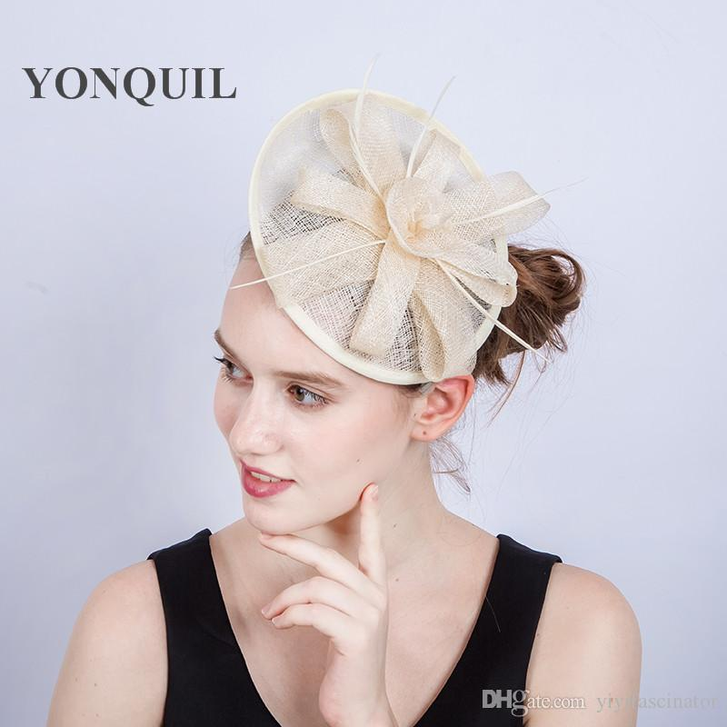 f1e3691b1c6 High Quality Elegant Ladies Fascinators Hat Wedding Accessories ...