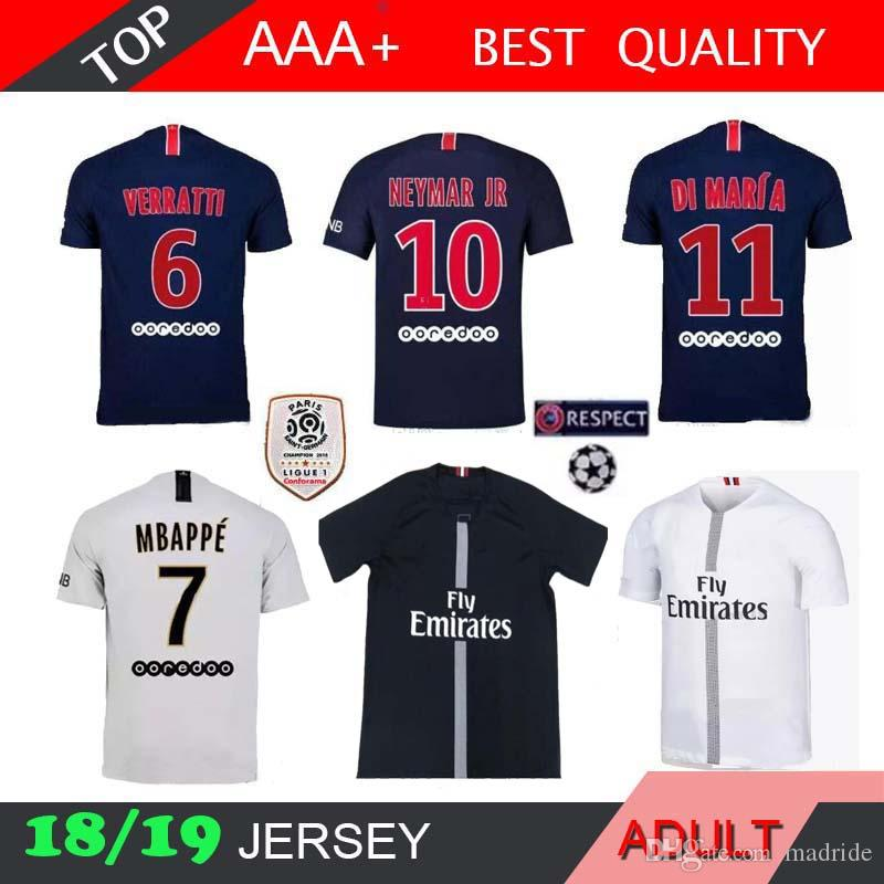 PSG MBAPPE 18 19 Home Champion Shirt T SILVA CAVANI DI MARIA PASTORE ... bc73fdd3a98d0