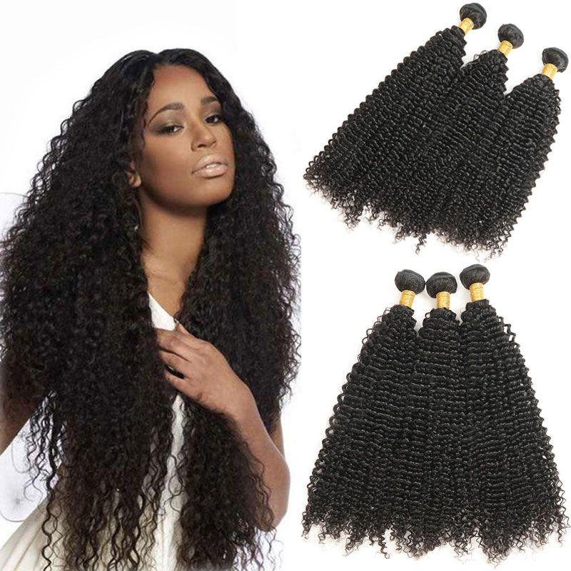 Afro Kinky Curly Hair Bundles Malaysian Human Hair Weave 3 Bundles
