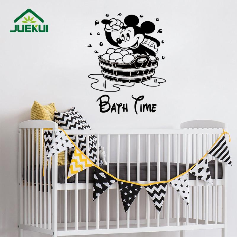 bath time lovely mouse waterproof wallpaper stickers for nursery