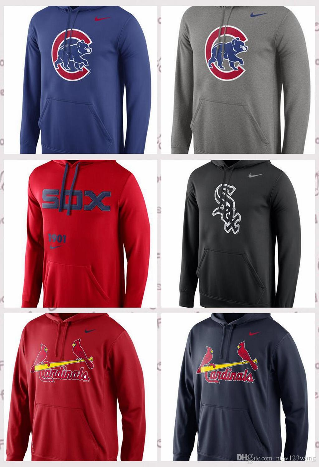 timeless design f6065 22740 Men s Chicago White Chicago Cubs St. Louis Cardinals Royal Logo Performance  Pullover Hoodie