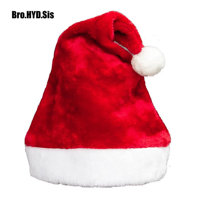 2940f455c1f56 2019 Classic Plush Christmas Hat Xmas Cap Adult Kid Santa Hats Red And White  Santa Claus Cap Chiristmas Party Supplies From Carlt