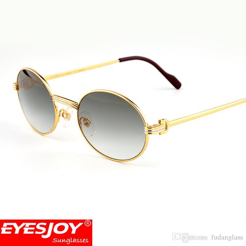f28dd52bbc Luxury Metal Frame Sunglasses Brands For Men Women Retro Brand Designer Sun  Glasses Full Rim Glasses Gold Frames With Original Box Kids Sunglasses Locs  ...