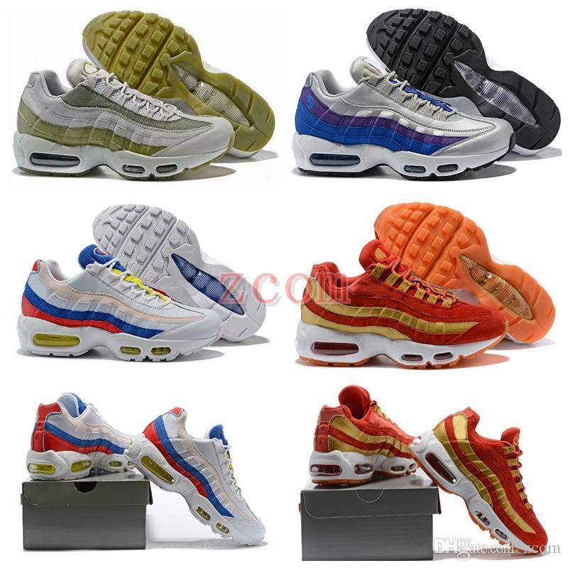 discount release dates 2018 Womens Men Running Shoes New 95 Sean Wotherspoon X 95 TT Wmns Shoe 95s Red Velvet Rainbow Mutil Colorful Mens Zapatos Sneakers outlet online shop bWzQpFO