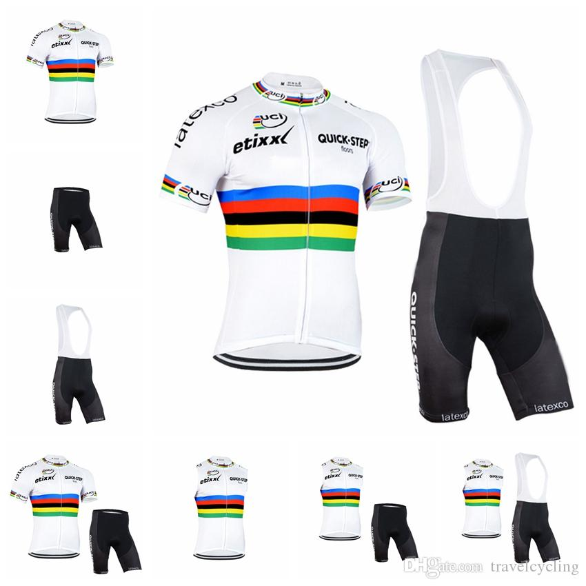 2018 Summer Team QUICK STEP Cycling Jersey Set ETIXX Men Short Sleeve Ropa  Ciclismo MTB Bike Clothes Breathable Bicycle Clothing 91822Y QUICK STEP  Cycling ... c84f1c15c
