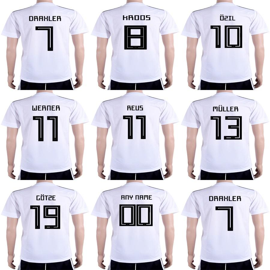 Mens Womens Kids 2018 World Cup Home White Soccer Jerseys 13 MULLER ... 5878877ff