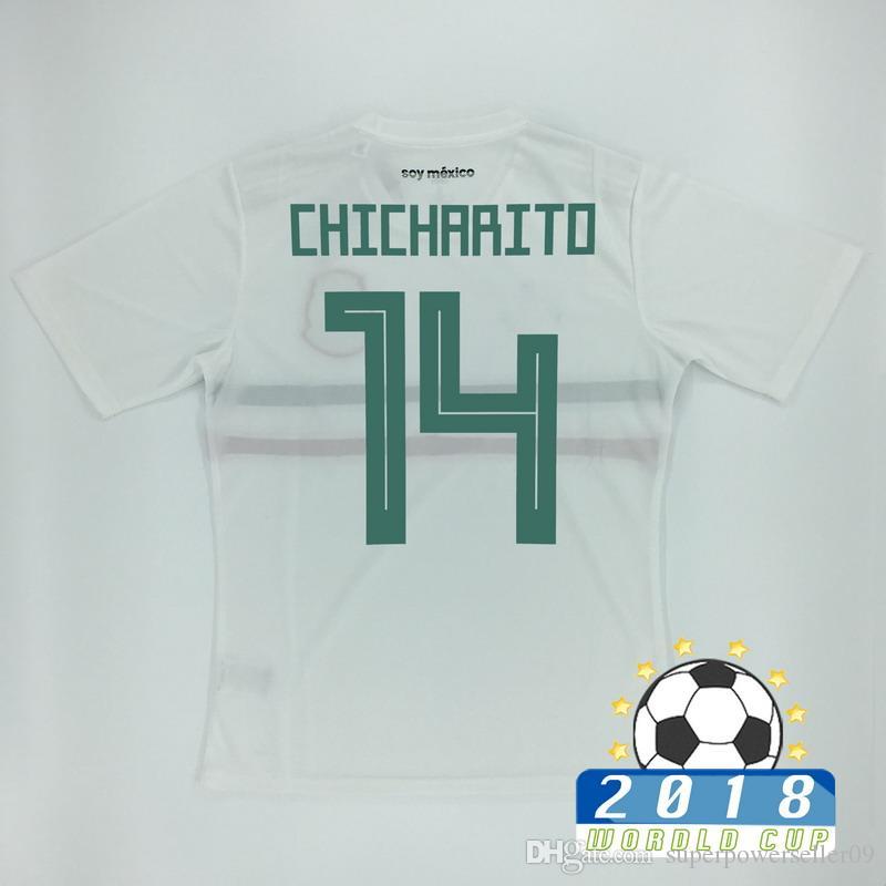 Ochoa Chicharito Thai A Quality México Away Jersey De Fútbol Blanco ...