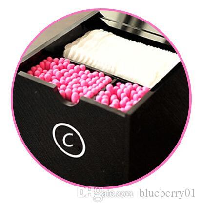 C Cosmetic Titular Acrílico maquiagem Cotonetes Box Big composição ferramentas de maquiagem Escova área de trabalho caixa de armazenamento