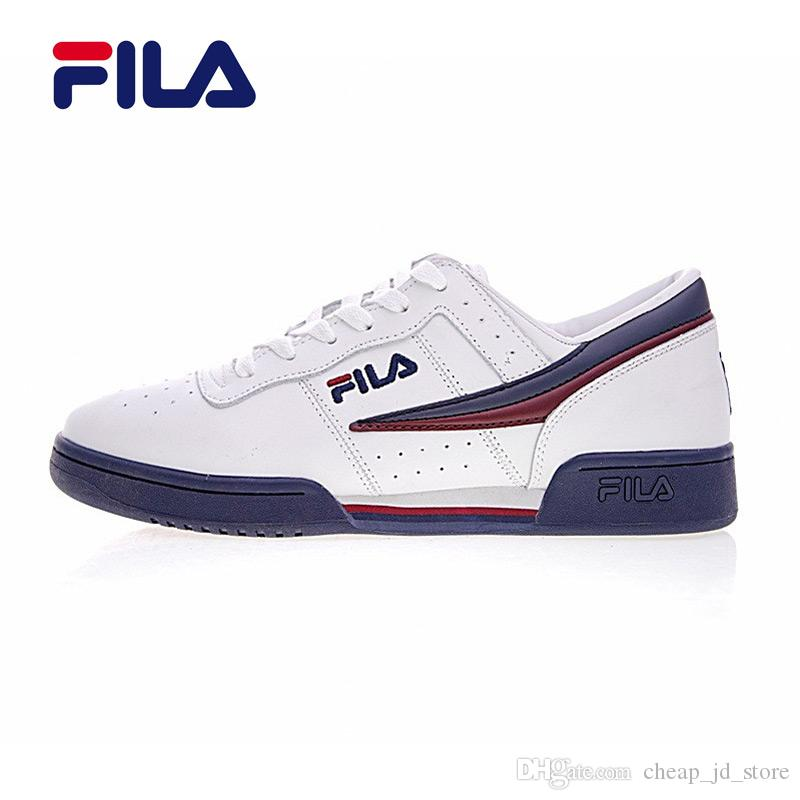 New Fila 2 Fitness Lea Classic Shoes Red White Blue Men Running Shoes  Sports Sneakers Size 40 44 On Sale Men Sports Shoes Shoe Shops From  Cheap_jd_store, ...