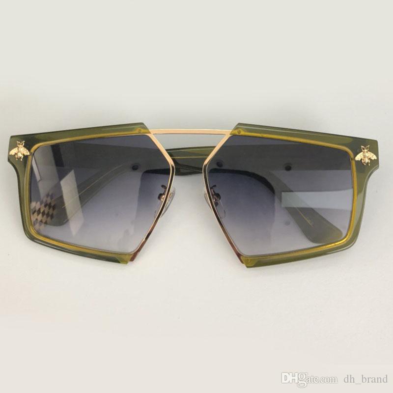 1c38edbd214 Goggle Style Sunglasses Women Man Square Shape Full Frame Mirror ...