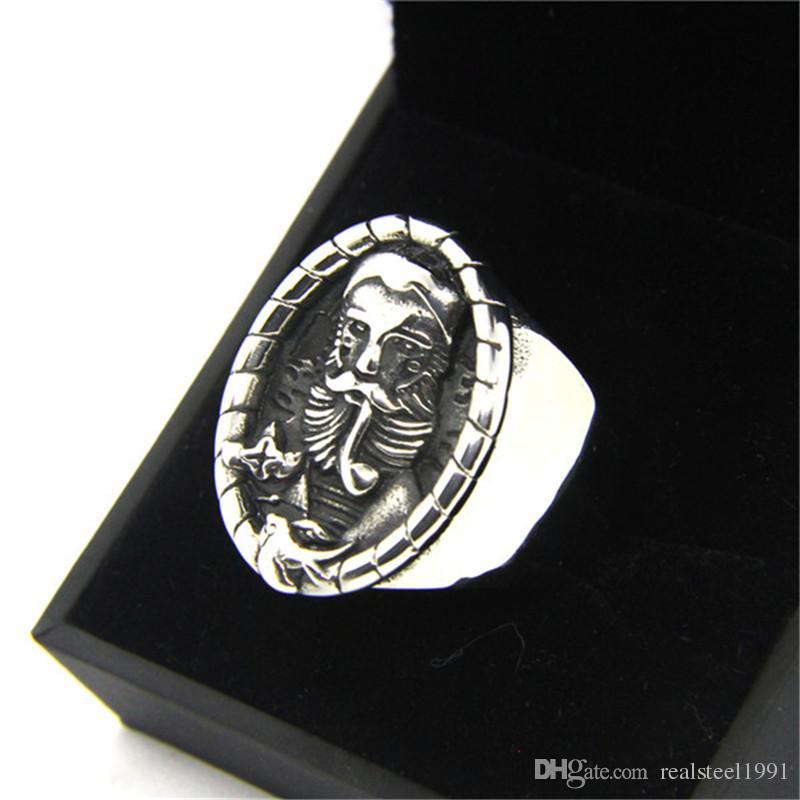 Smoking Gentleman Ring 316L Stainless Steel Fashion Jewelry Popular Biker Hiphop Style Europe Men Ring