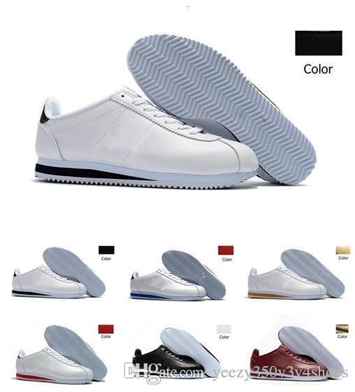 2018 Sale Men Women Athletic Classic Cortez Nylon PRM Running Sneaker Adlut Pink Black Red White Blue Lightweight Sport Run Shoes 36-44 clearance store for sale wholesale price cheap sale official MHJm4
