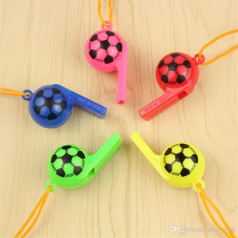DHL Fußball Ball Fußball Lächeln Whistle Lärm Maker Jubel Requisiten Party Favors für 2018 World Cup