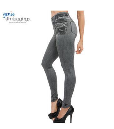 db20eb470 Compre Hayoha 2017 Leggings Jeans For Women Pantalones De Mezclilla Con  Bolsillo Leggings Slim Mujeres Fitness Plus Size Leggins S Xxl Negro   Gris    Azul A ...