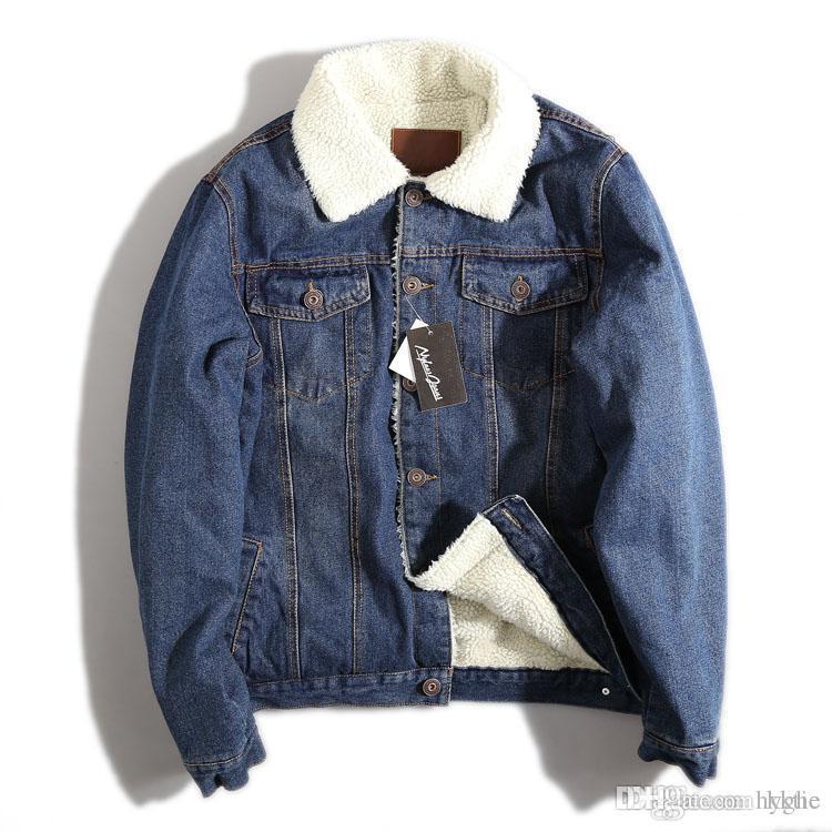b5bf37516ec M~XXL New Retro Warm Denim Jackets Mens Jeans Coats Winter Jackets Brand  Clothing Thicken Denim Coat Men Outwear Male Overcoat For Men Fur Denim  Jacket From ...