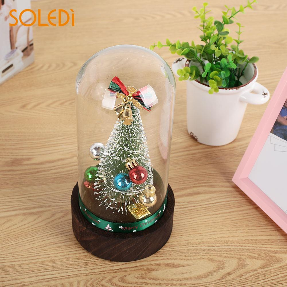 e452aa68cd53 Creative Artificial Christmas Tree Christmas Lampshade Glass Cover  Beautiful Glass Gift Music Box Hanging Candle Xmas Christmas Decoration For  Sale ...