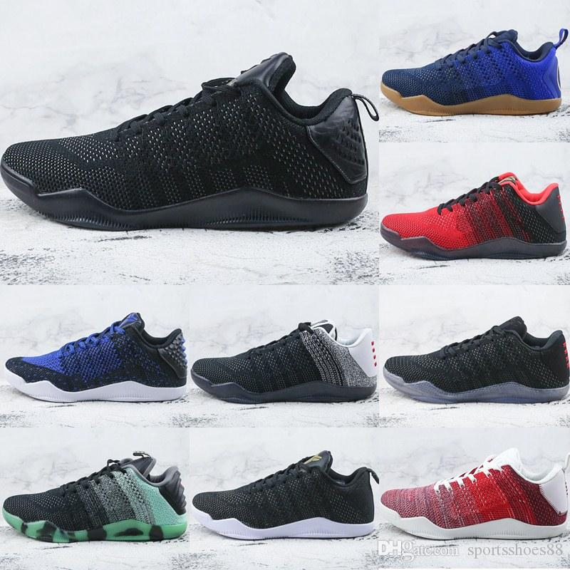 Wholesale Cheap Brand Kobe 11 Elite Low 4KB Lost Ghost Of Christmas Past Kb  XI MEN Basketball Shoes Sports Shoes Sneakers Trainers Basketball Gear ... c33bef695