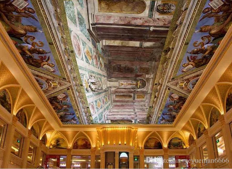 Vintage nuevo papel tapiz de murales de techo 3d 3d Papel tapiz en relieve de esclavos para paredes 3 d techo