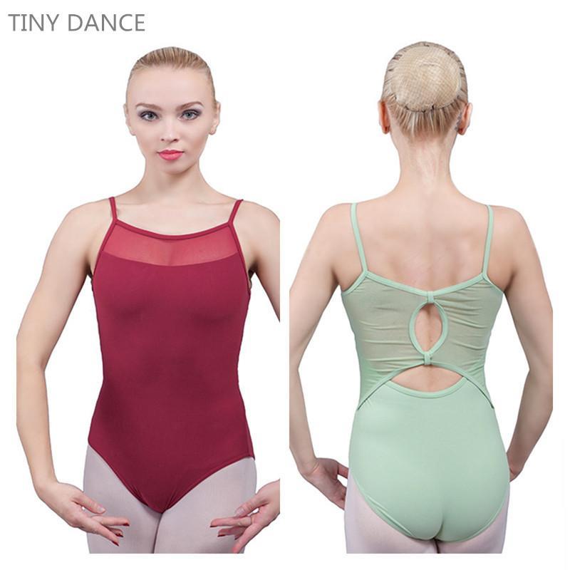 af997f3bd Envío Gratis En Stock Chicas Adultas Ballet Dance Matte Lycra y Mesh  Leotardos Tamaño Disponible de XS a XL 5 Colores 02D0056