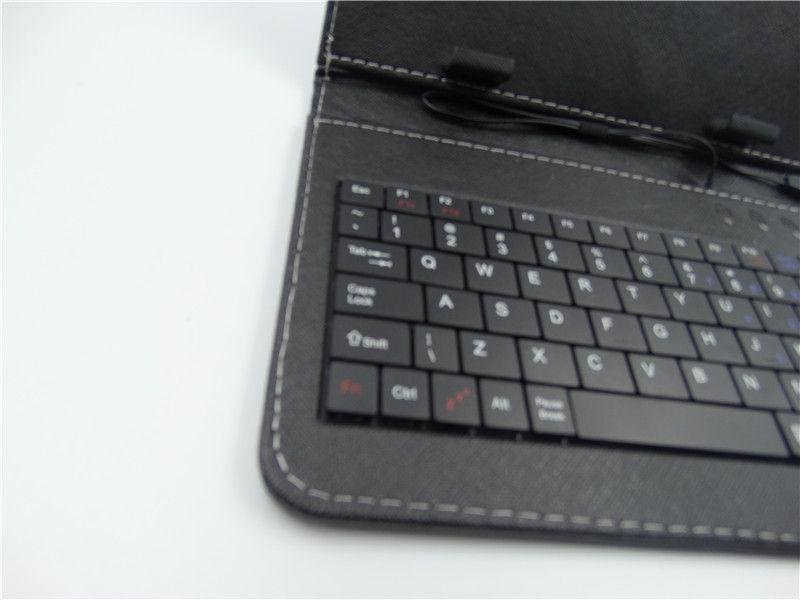 100X Ledertasche mit Micro-USB-Schnittstelle Tastatur für 7-Zoll-MID Tablet PC A-JP