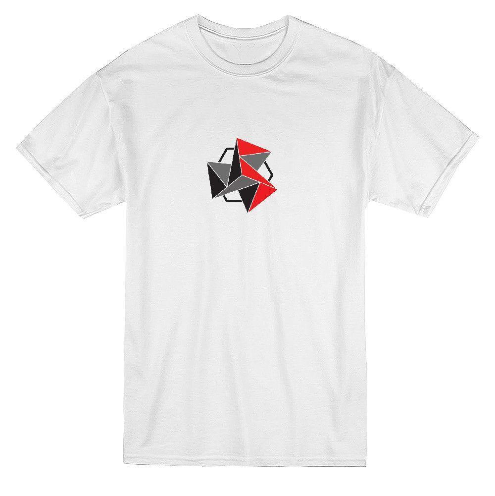 Red And Black Geometric Triangles Graphic Mens T Shirt Designs