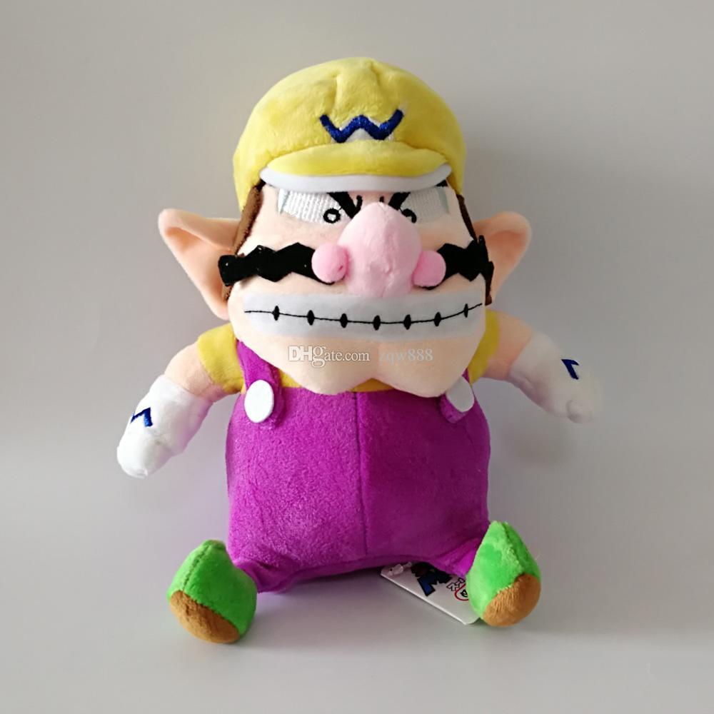 Il nuovo arrivo 100% cotone 24 centimetri 28 centimetri Wario Waluigi Luigi Bros della bambola della peluche ha farcito il giocattolo il bambino migliori regali
